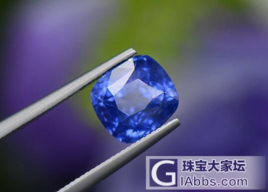 刻面蓝宝石