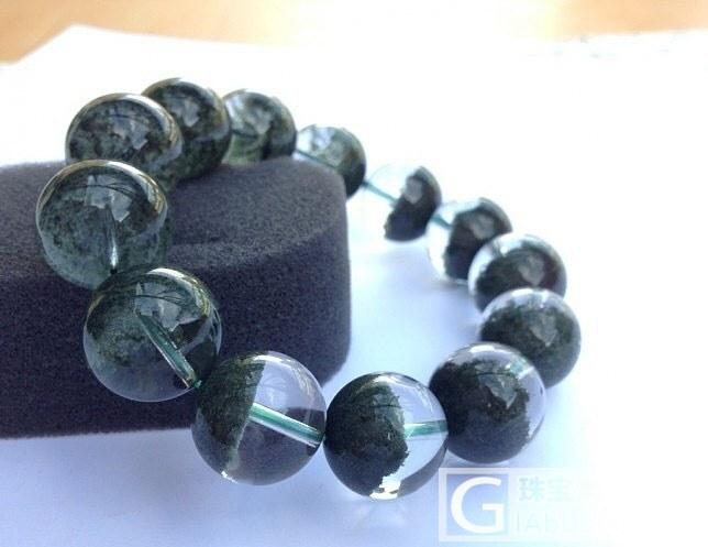 多年前收来的绿幽灵聚宝盆…18MM大概90克…请问现在值什么价?_绿幽灵珠串