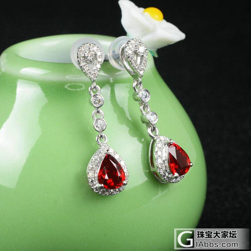 轻奢显气质款红宝石耳钉,玻璃vividred艳球墨,火彩很好,配件干净红色球墨铸铁管及肉眼颜色图片